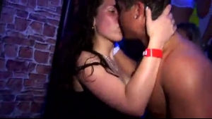 Fantasy girls with huge tits are having wild group sex in the night club