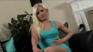 Blonde babe named Sagea desperately needs an intense orgasm, once her partner's hard dick reaches her ass