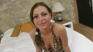 Horny Romanian girl is getting can hard cock