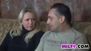 Wild couple having sex in the barn
