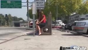 Teen tight pussy gets slammed in the van